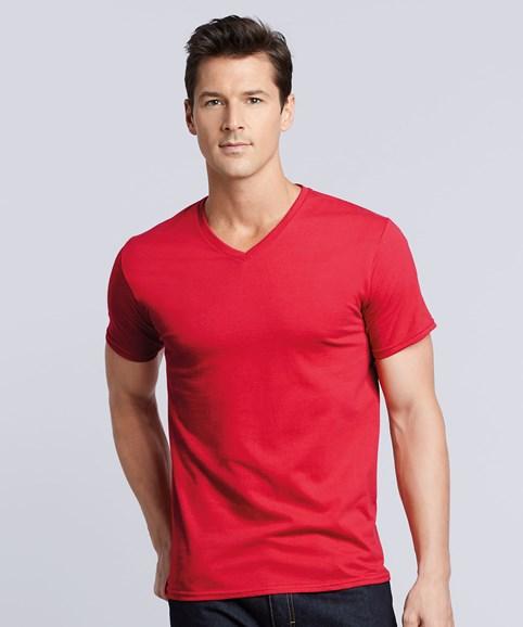 A man modelling a V-Neck t-shirt