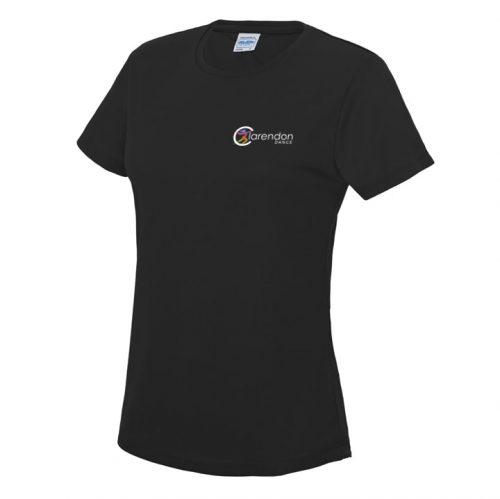 Clarendon dance black t-shirt