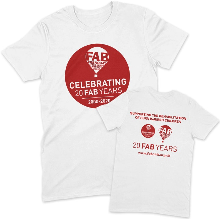 FAB 20 years white unisex t-shirt