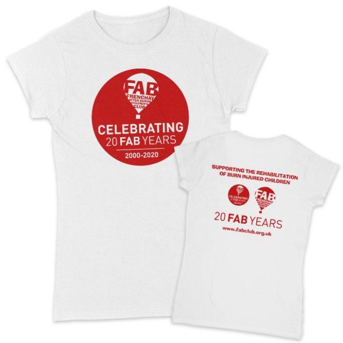 FAB 20 years white women's t-shirt