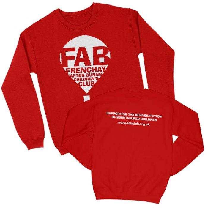 FAB red sweatshirt