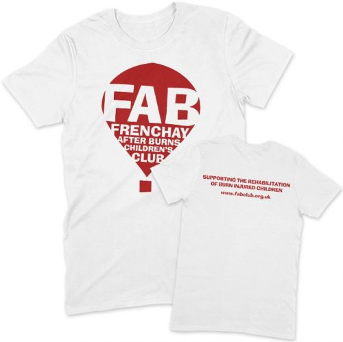 FAB white unisex t-shirt