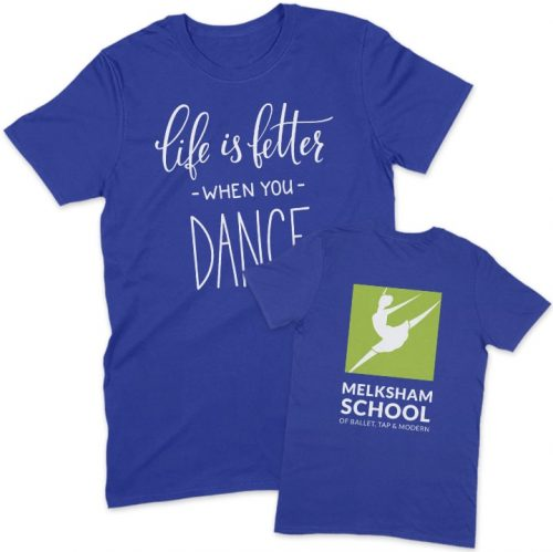 Melksham School of Ballet Royal Blue T-shirt