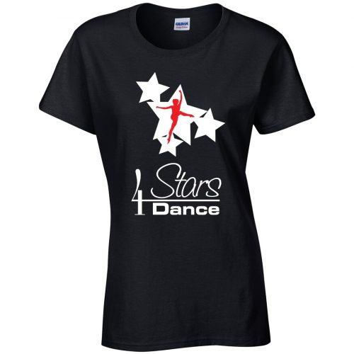 4 Stars Dance Fitted T-Shirt
