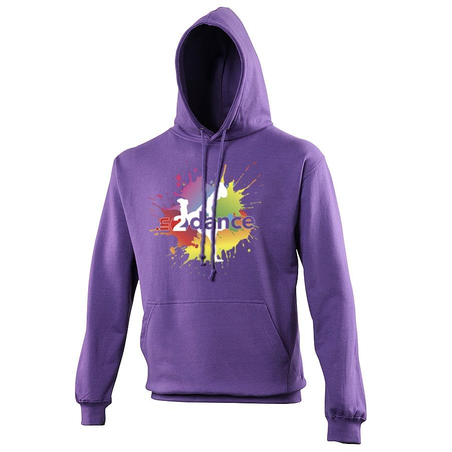 In2Dance purple hoodie