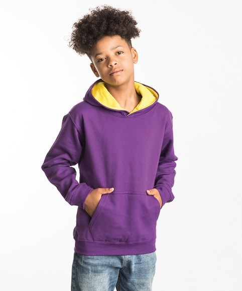 A young boy modelling a hoodie