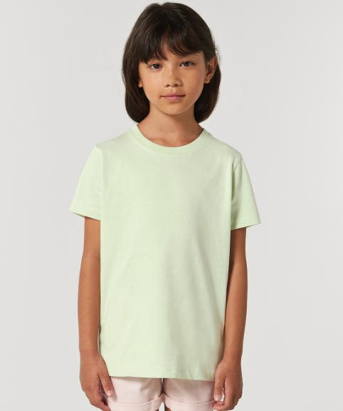 A young girl modelling a t-shirt