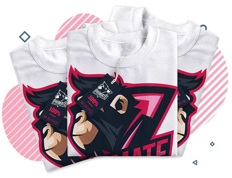 Three primate printed t-shirts
