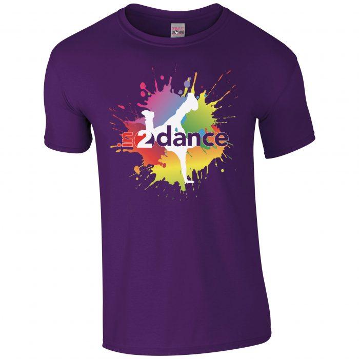 In2Dance purple t-shirt