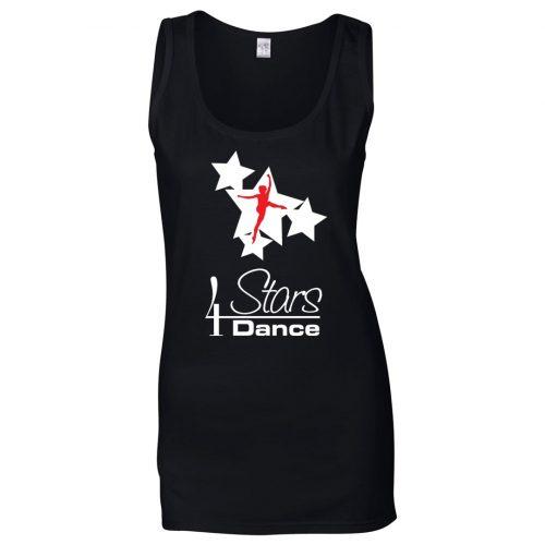 4 Stars Dance Women's Black Tank Top