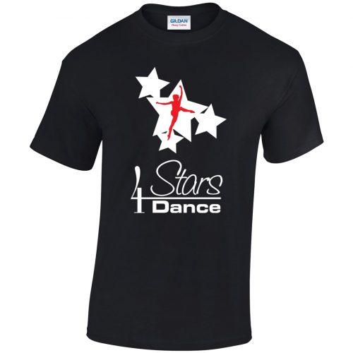 4 Stars Dance Black Unisex T-shirt