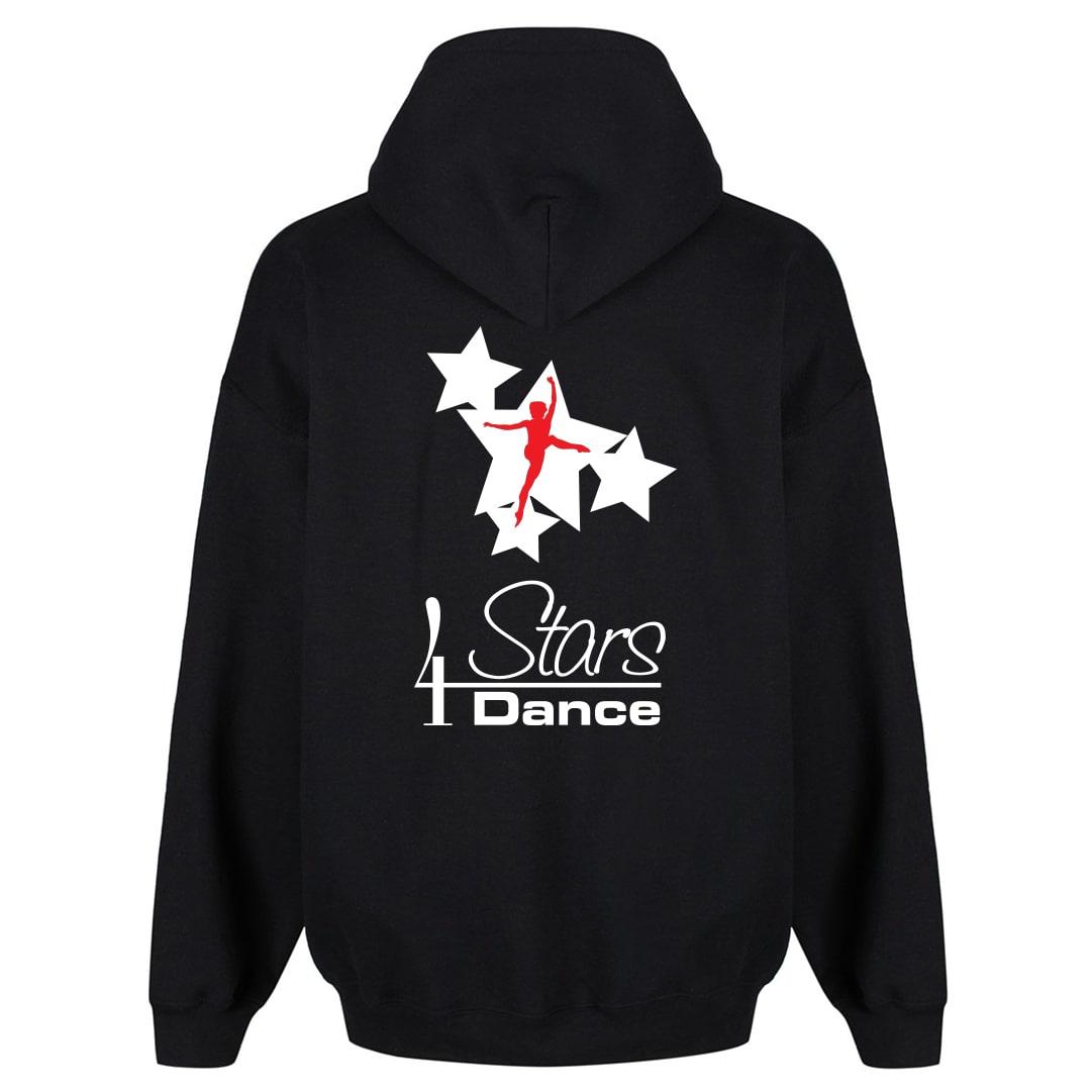 4 Stars Dance Black Zip Hoodie