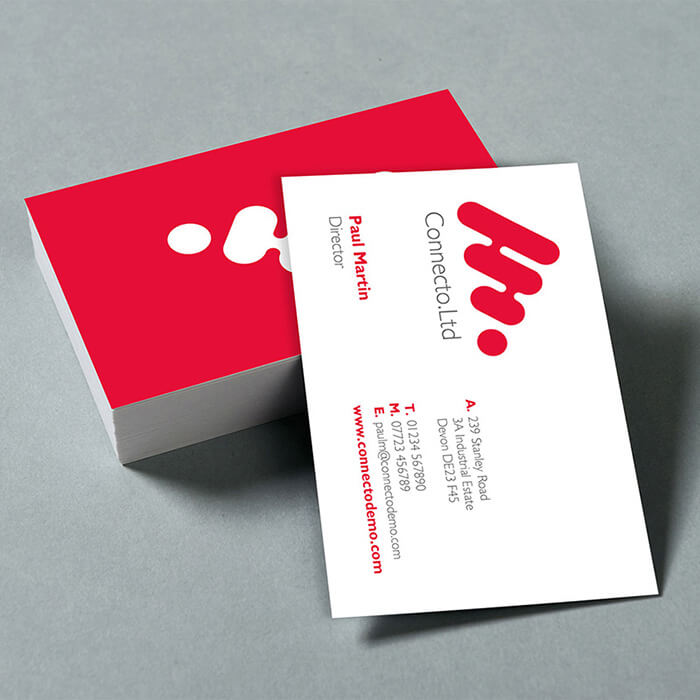 A Stack of classic business cards