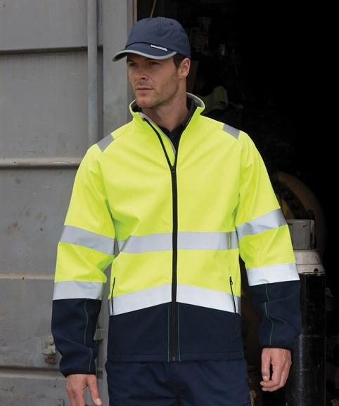 A man modelling a high-vis jacket