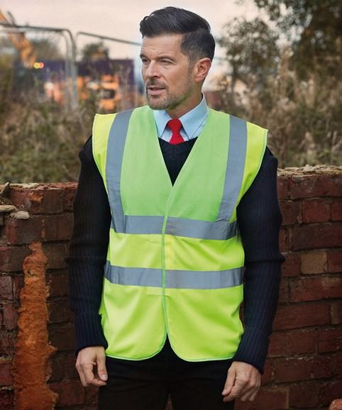 A man modelling a hi-vis vest